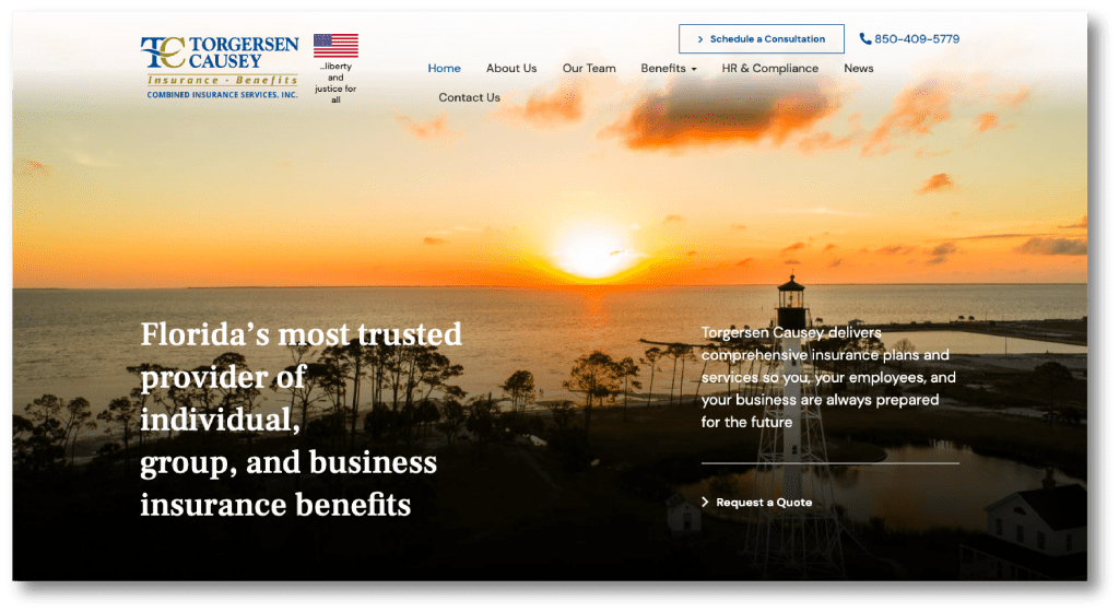 Screenshot of a website designed by Smarter Web